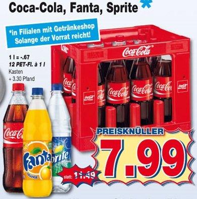 [kaufpark] Cola, Fanta, Sprite 12er Kasten PET