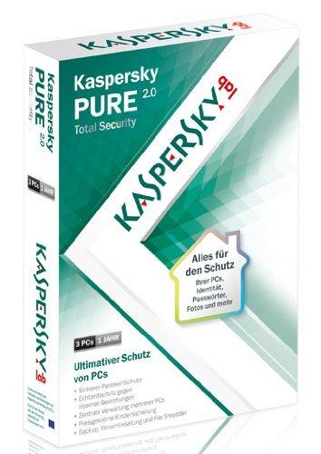 Kaspersky Pure 2.0 für nur 3 Euro (1Jahr - 3 PC´s)