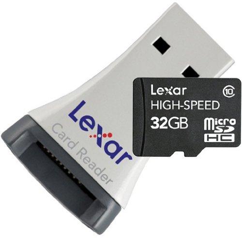 Lexar 32GB MicroSDHC Karte Class 10 inkl. MicroSDHC-USB-Adapter für 21,99€ @Amazon