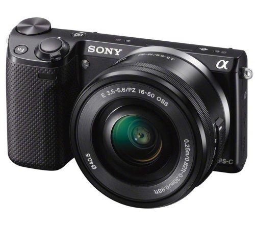 Sony Alpha NEX-5RLB Kit in schwarz mit 16-50 mm Objektiv @PIXmania für 534,09