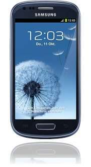 Samsung GALAXY S3 mini 8GB pebble-blue Ohne SIM-Lock / Net-Lock Ohne Branding @Base