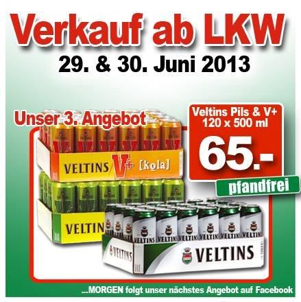 Veltins Pils und V+ 120 Dosen mit 500 ml (pfandfrei)