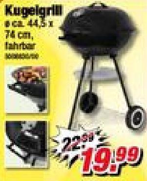 [offline Poco Domäne] 50% auf Grills und Gartenartikel, z.B. Kugelgrill 44cm für 9,99€