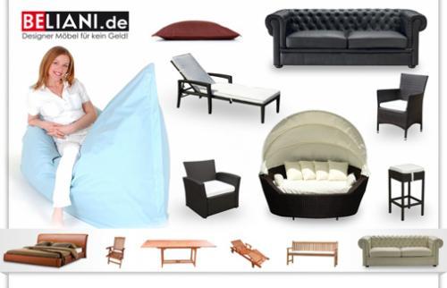 Qypedeals: 19 Euro für einen Wertgutschein über 100 Euro - auf alle Designermöbel beim Online-Möbelshop Beliani.de - nur für Neukunden!