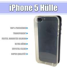 iPhone 5 Silikon Case Ultra Dünn Hülle Transparent Crystal Clear Cover Bumper