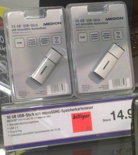 [Lokal Ilmenau] 16GB USB-Stick mit microSD-Reader für 7 Euro