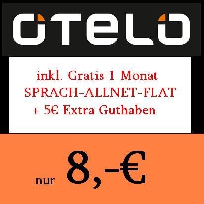 Prepaid Sprachflat in alle Netze in d2 Qualität von Otelo