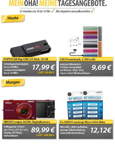 8x eneloop AAA @ meinpaket.de für 12,12€