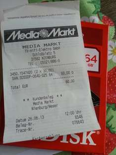 (lokal nienburg Weser)  SanDisk 64 GB SSD 30€