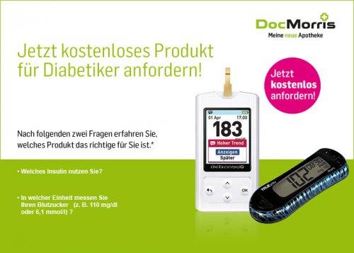 kostenloses Produkt für Diabetiker bei DocMorris
