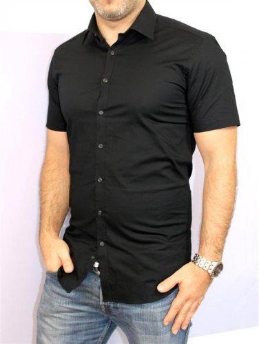 Business Hemd kurzarm slim fit Schwarz Angelo Litrico Größe XS - XL 7,90€ inkl. VSK