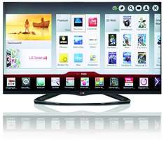 LG 42LA6608 106 cm (42 Zoll) Cinema 3D LED-Backlight-Fernseher, EEK A+ (Full HD, 400Hz MCI, WLAN, DVB-T/C/S, Smart TV) schwarz + Hobbit 3D Blu Ray gratis @Amazon