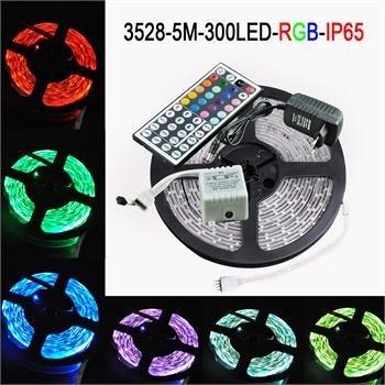 5M LED SMD 3528 RGB Wasserdicht +Trafo Netzteil+ 44 Taste Controller