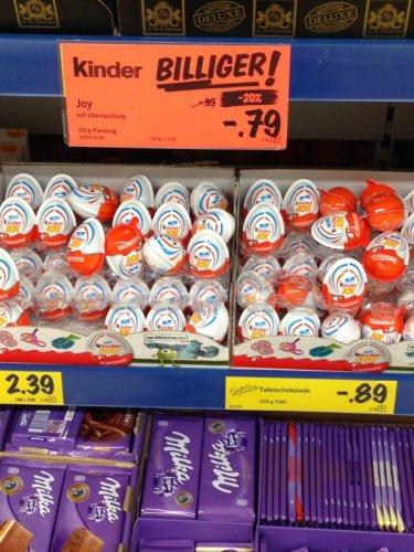 Kinder Joy von Ferrero bei LILD in Hamburg Alsterdorf für 0,79€ Cent