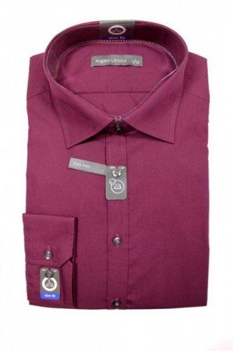 Business Hemd langarm slim fit Weinrot bügelleicht Größe S-XL 9,90€ inkl. VSK