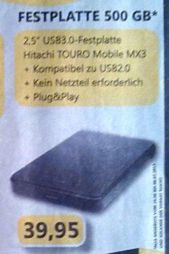 """[lokal Dortmund] Hitachi Touro 500GB 2,5"""" USB3.0 für 39,95€"""