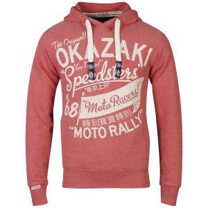 @TheHut.com: Herren Hoody - Tokyo Laundry Men's Willard Print Hooded Sweatshirt - Tokyo Red Marl 14,99€