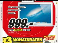 Neues MacBook Air 13 Zoll inkl. 256GB SSD - Media Markt regional Hannover - 999€