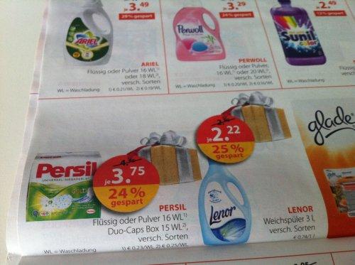 [Müller] Ariel Waschmittel für 1,49€ (Flüssig oder Pulver) & Lenor 3l für 1,42€