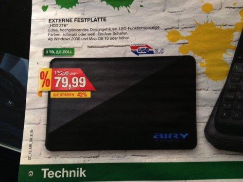 [Lokal] Bielefeld: CnMemory 3.5 Airy USB 3.0 3TB im Marktkauf