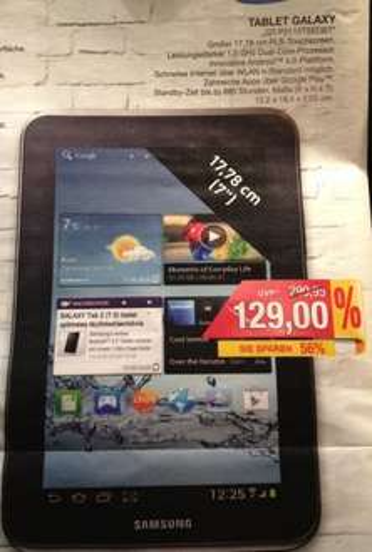 [Lokal] Bielefeld: Samsung Galaxy Tab 2 (7.0) WiFi 16GB (Marktkauf)