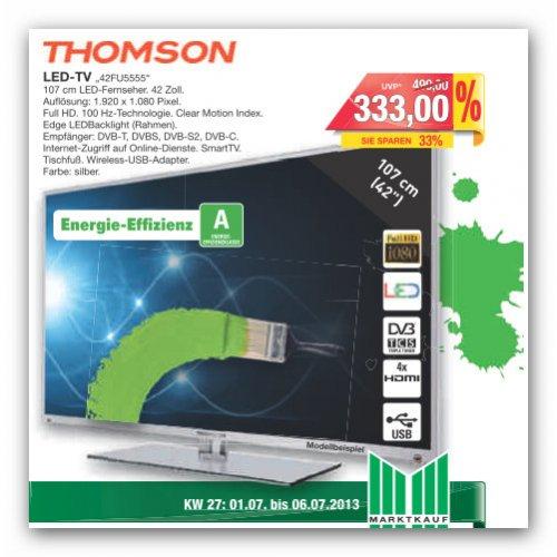 """""""Lokal Bielefeld und Umgebung"""" Thomson LED TV 42""""  42FU5555 für 333,00 Euro bei Marktkauf"""