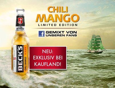 [Kaufland] Beck's Pils, Gold, Blue und alle Mischgetränke incl. Chili Mango 6x0,33l Fl. 2,70€