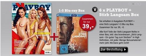 6x PLAYBOY + Stirb Langsam 1-5 BluRay Box für nur 39€