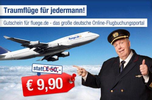 Fluege.de 50 € Gutschein für 9,90 € [@ab-in-den-urlaub-deals.de]