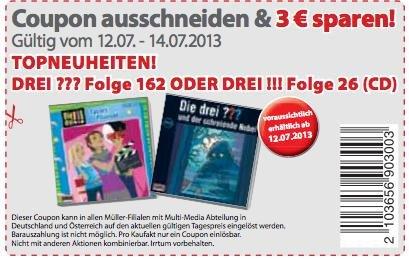 Die drei ??? - 162 / Der Schreiende Nebel - CD für 4,99€ @Müller am 12.-14.7.