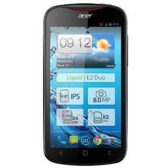 Acer Liquid E2 Duo * Jelly Bean 4.2 * Quad-Core 4x 1.2GHz Cortex-A7 * 1GB RAM * DUAL-SIM * schwarz