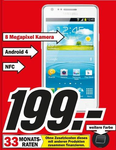 Samsung Galaxy S2 mit NFC im Mediamarkt Karlsruhe für 199 Euro