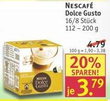 Bundesweit Rossman Dolce Gusto Nescafé Kapseln günstig 3,79 €