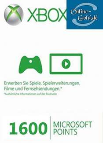 1600 Microsoft Points - Xbox 360 Live Punkte für nur 13,49 EUR