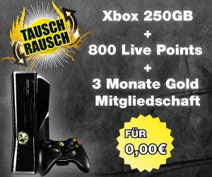 PS3-Slim gegen eine XBOX360 Slim 250GB+3Monate Gold + 800 Points tauschen.