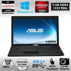 Notebook 15,6 Zoll ASUS X55U-SX038H + Windows 8 AMD Dual Core HDMI USB 3.0