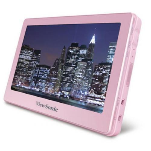 ViewSonic 4.3 Portable Media Player 8GB - Pink@thehut.com