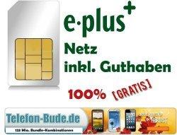 Simkarte mit 5€ Guthaben, 3GB Internetflat GRATIS [ebay, eplus]