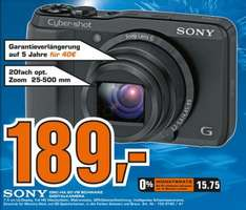 [LOKAL LÜNEN] Sony DSC-HX20VB Cyber-shot Exmor R - GEIZHALS: ab €254,95