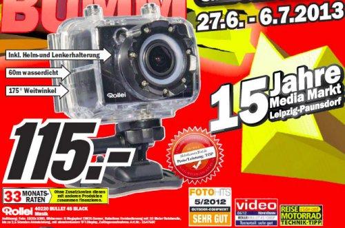 [Leipzig] Canon 60D + 17-85 IS USM für 650 Euro | Nikon D3000 mit 18-55 für 222 Euro | Rollei Bullet 4S Action Cam für 115 Euro Media Markt Paunsdorf Center