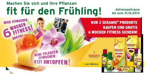 6 Wochen Fitnesstraining als Zugabe zu 2 Seramis Produkten