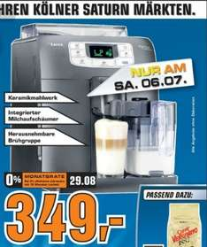 [lokal?] Kaffeevollautomat Saeco HD8753/11 bei Saturn Köln am 06.07.