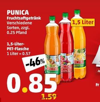 Punica bei Penny deutschlandweit für 85 Cent / 1,5 Liter ab Freitag bis Samstag