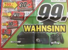 [Media Markt] XBox 360 4Gb incl. 1 Controller für 99€ + verrückter Entertainment Bonus