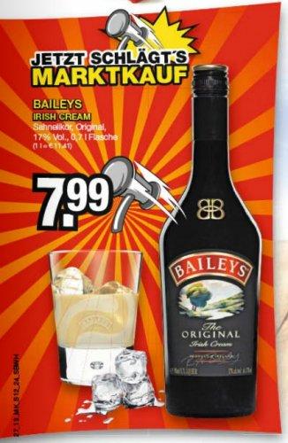 [offline, Marktkauf] 0,7 Liter Baileys für 7,99€