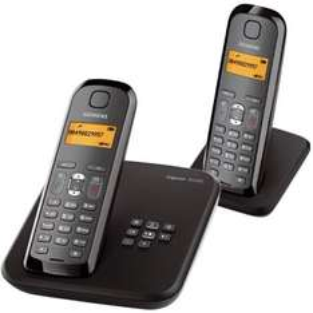 SIEMENS GIGASET AS285 DUO OVP SCHNURLOS TELEFON ANALOG OVP (Null.de)