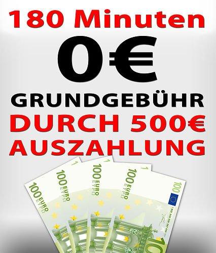 Vodafone 180 Minuten 500€ Auszahlung - rechnerisch komplett kostenlos - mehr Auszahlung als Grundgebühr