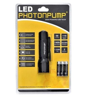 Pünktlich zum Urlaub: LED Taschenlampe Photonpump E7 (7007) mit 60% Rabatt