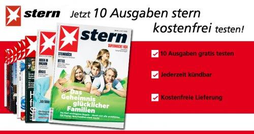STERN - 10 Ausgaben kostenlos @magclub