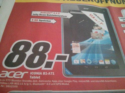 "(LOKAL) MM Heidelberg Acer Iconia B1 7"" Tab 88 €"